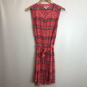 Sz 10- Vineyard vines red silk blend sleeveless dress Sz10